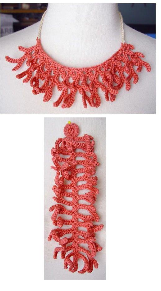 Sem gráfico. crochet necklace