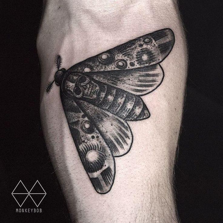 Death moth hiddenmoontattoo deathmoth deathmothtattoo for Loser lover tattoo