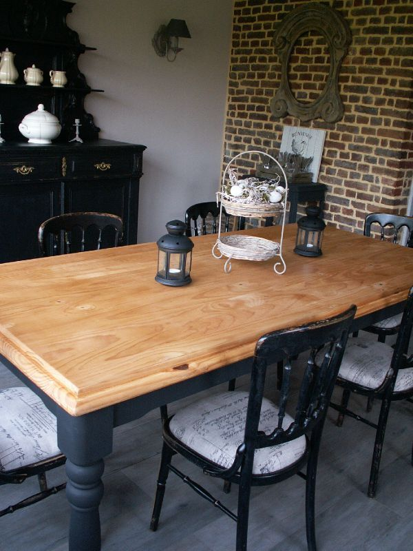 25 best ideas about repeindre les tables de cuisine on - Table de cuisine et chaise ...