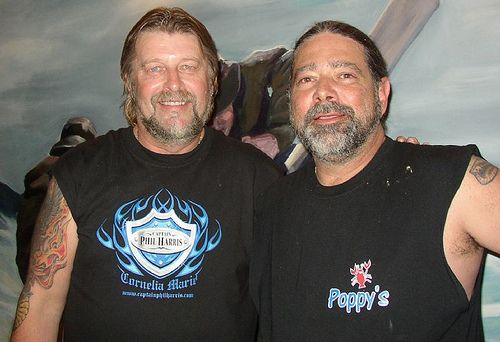 captain phil harris | Capt. Phil Harris, left, visited fellow fisherman Michael Castelan at ...