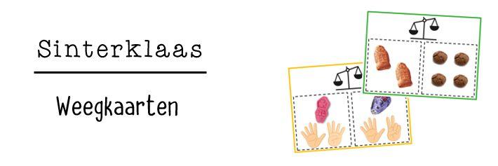 De kinderen gaan aan de hand van de weegkaarten aan de slag met het begrip wegen. Ze gebruiken hiervoor o.a. pepernoten of schuimpjes.
