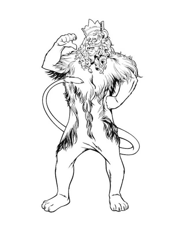 The Wizard Of Oz The Cowardly Lion Proud Of Himself In The Wizard Of Oz Coloring Page Wizard Of Oz Color Wizard Of Oz Characters Lion Coloring Pages
