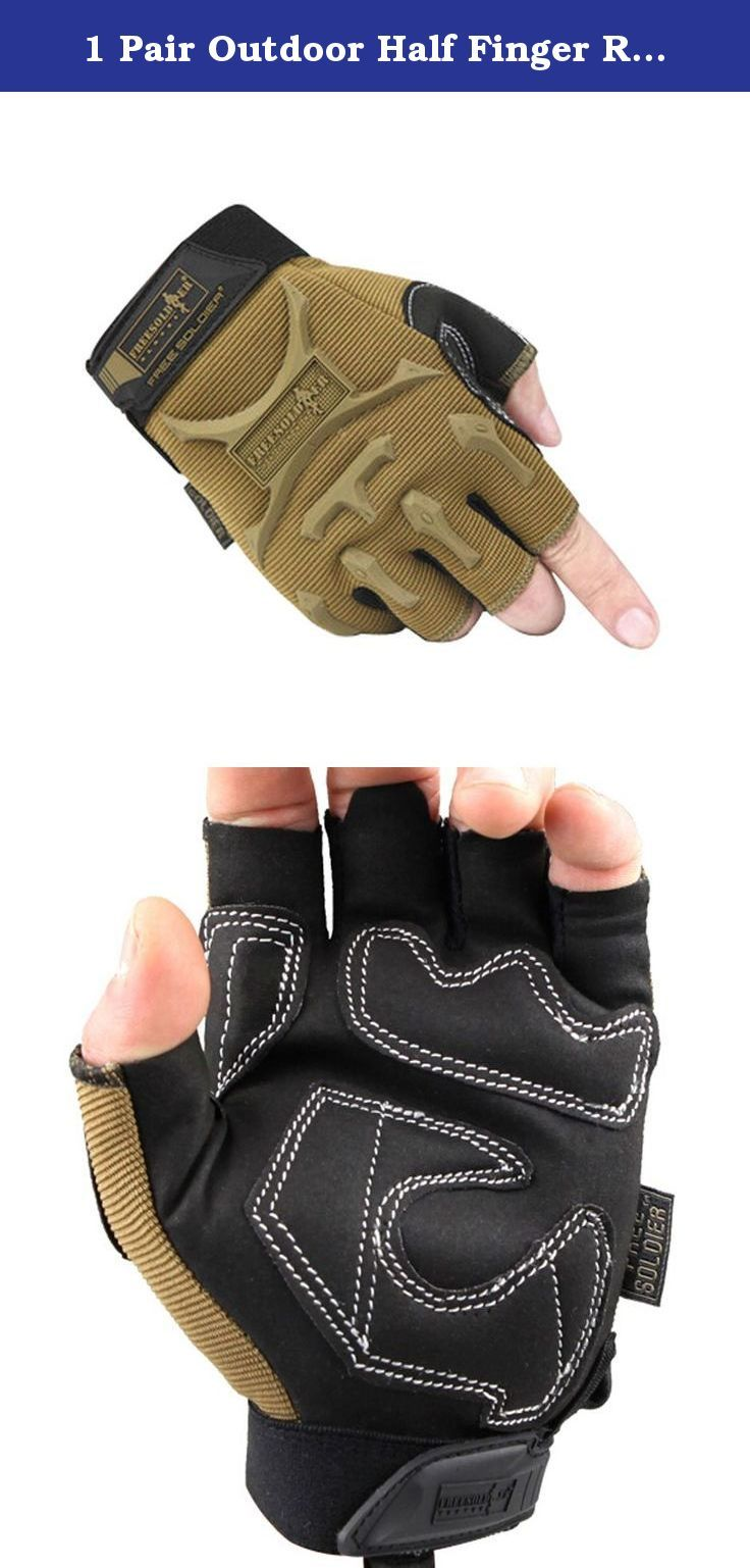 1 Pair Outdoor Half Finger Rock Climbing Gloves Shooting Gloves BROWN, M. Ships from Hong Kong. Combine rough and rugged durability with strong and dependable design that stands up to the toughest tasks. They help exerciser to reinforce finger joins and enhance dexterity, and provide exerciser excellent protection.