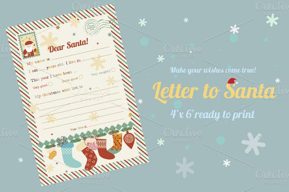 Check out Letter to Santa/wish list by Darish on Creative Market