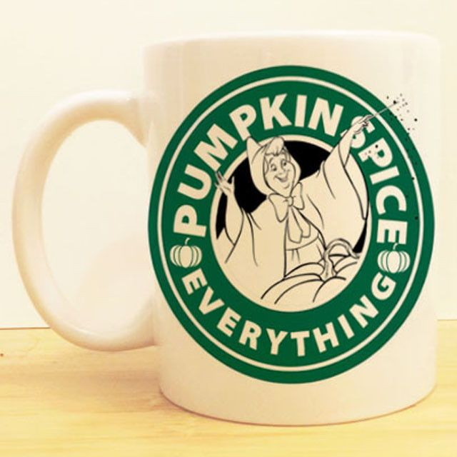 Fairy Godmother's Pumpkin Spice Coffee Mug   Cinderella Disney Starbucks