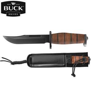 BRAHMA Coltello lama fissa della Buck Knives offre una versione con fodero in cuoio e Nylon con attacco M.O.L.L.E.. www.sfemaccommerce.com