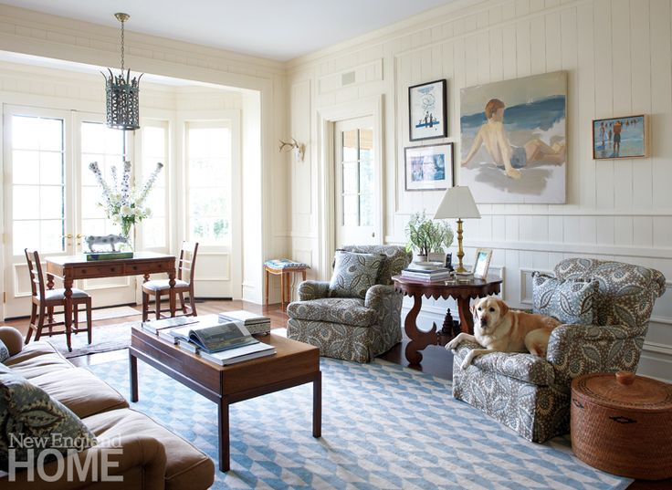 Comfortable Chairs For Family Room Part - 18: Thoughtful Additions Like A Game Table In The Bay Window Make The Family  Room Welcoming For All Ages. Even The Dogs Love The Comfortable Chairs  Upholstered ...