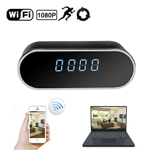 Daretang WiFi Hidden Camera Clock Upgraded Wireless Spy Camera Full HD 1080P Motion Detection Activated Alarm App Realtime Video Remotely Monitoring for Home Security Nanny Cam