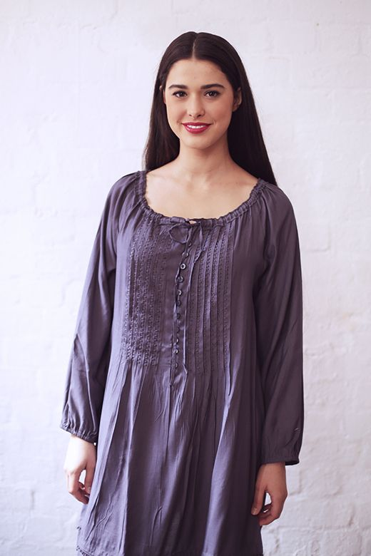 Drawstring Button Tunic http://cakeclothing.net/collections/winter-15/products/drawstring-tunic-bruise