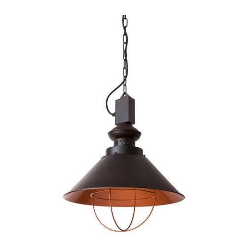 IKEA - GISSELBO, Lampa wisząca, Lampa daje przyjemne światło w jadalni i rozprowadza dobrze ukierunkowane światło nad stołem w jadalni lub barkiem.