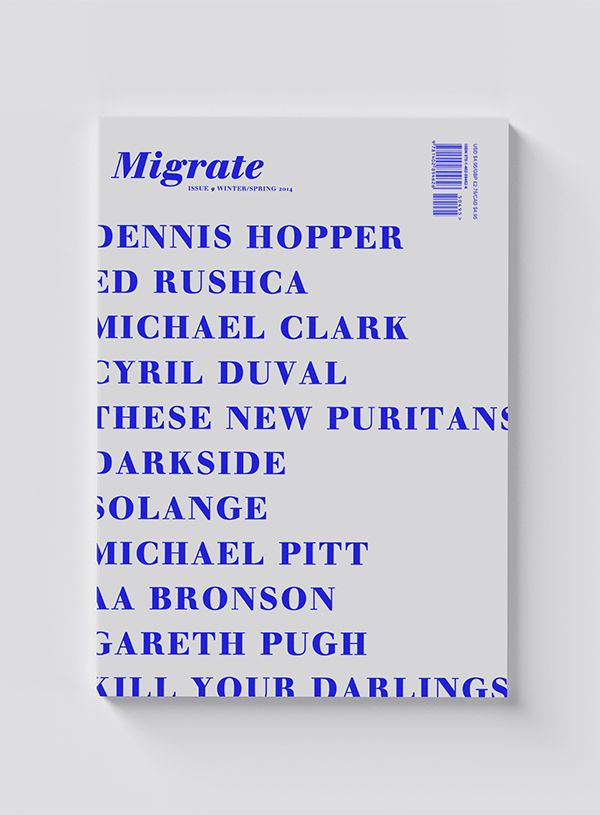 Cover for Migrate Magazine