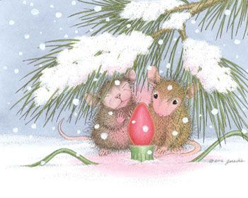 Muzzy and Amanda, from House-Mouse Designs®. Click on the image to see all of the very mice products that this image is available on.