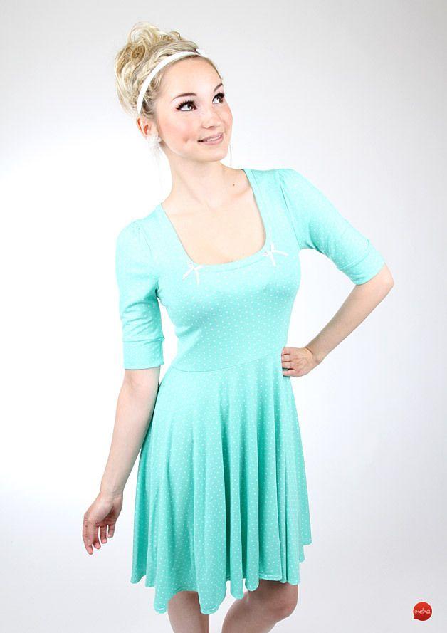 Knalliges Party Kleid für den Silvester Abend in Türkis / perfect party dress, turquoise, mini dress by meko store via DaWanda.com