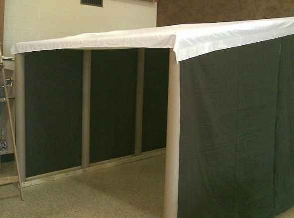 Make a VBS marketplace tent with Carpet Tubes! (Athens, Rome, Babylon, Nazareth, etc.) - HLA VBS