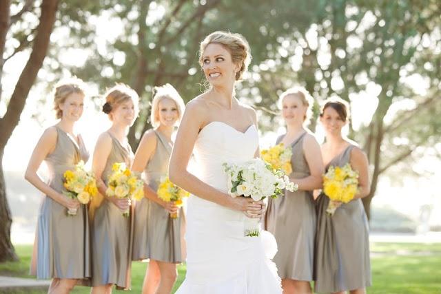 Weddings - grey and yellow wedding theme
