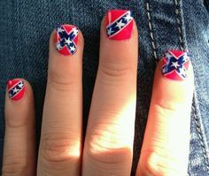 Best 25 redneck nails ideas on pinterest browning camo nails red blue and white rebel flag nails prinsesfo Gallery