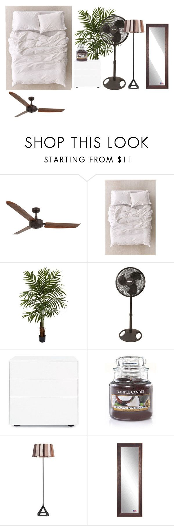 """""""Untitled #406"""" by dalyialashea on Polyvore featuring interior, interiors, interior design, home, home decor, interior decorating, Lucci Air, Urban Outfitters, Nearly Natural and Lasko"""