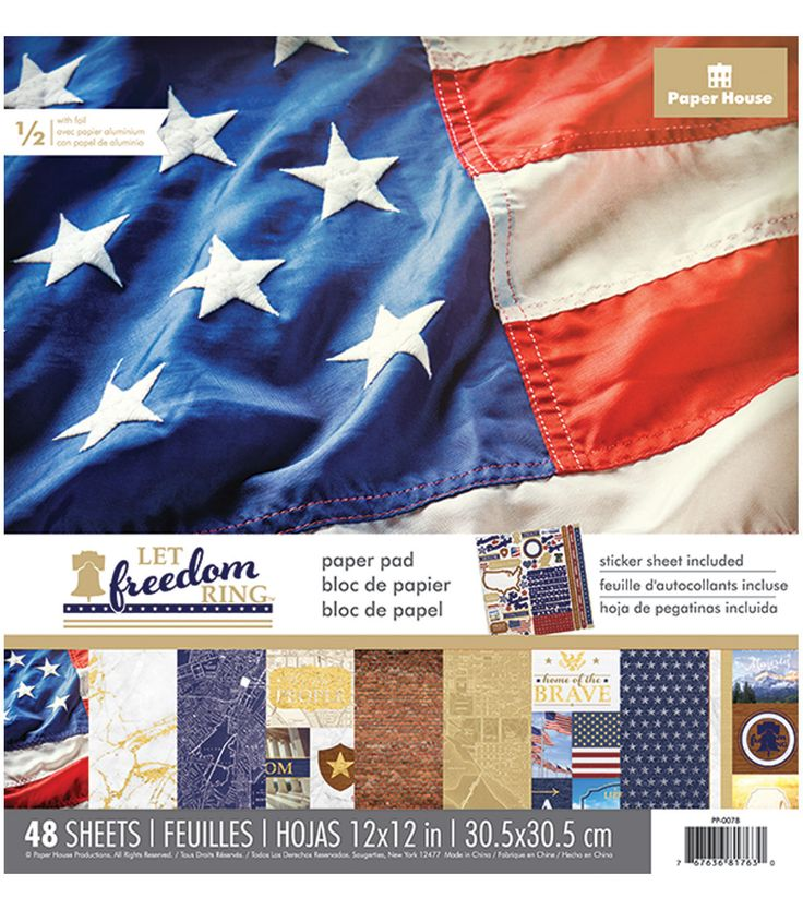 Paper House® Let Freedom Ring Pack of 48 12''x12'' Paper Pad