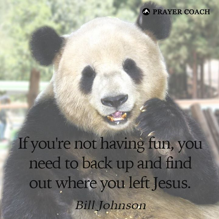 Don't leave Jesus behind.  Bill Johnson