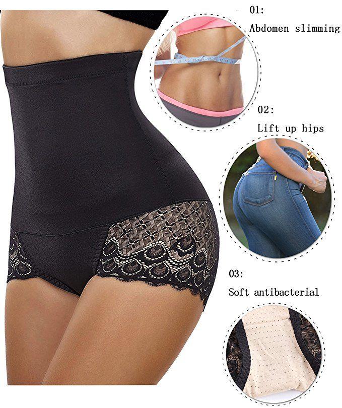 003ff0020d2 Gotoly Women Body Shaper High Waist Butt Lifter Tummy Control Panty Slim  Waist Trainer at Amazon Women s Clothing store