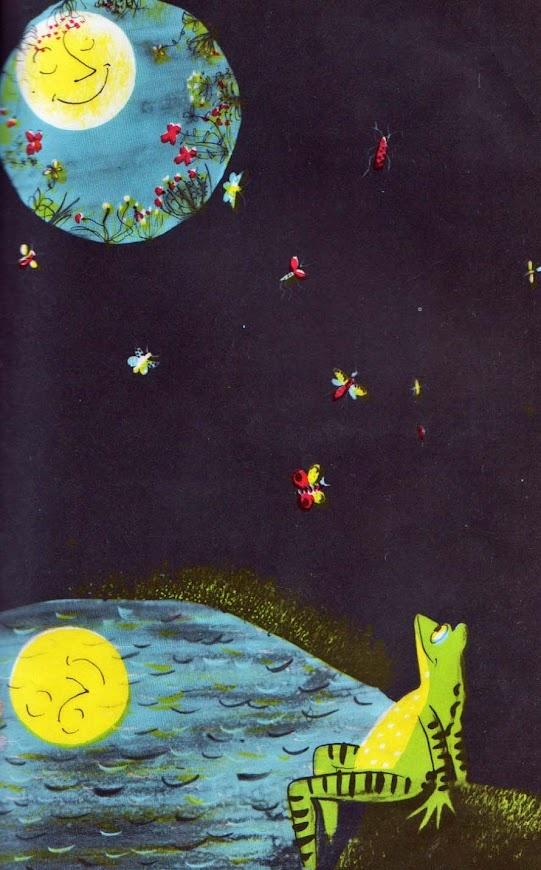 The Frog in the Well  Alvin Tresselt ~ Roger Duvoisin ~ Lothrop, Lee & Shepard, 1958: Kid Books, Kid Loves, Well Alvin, Roger Duvoisin, Vintage Kids, Book Illustration