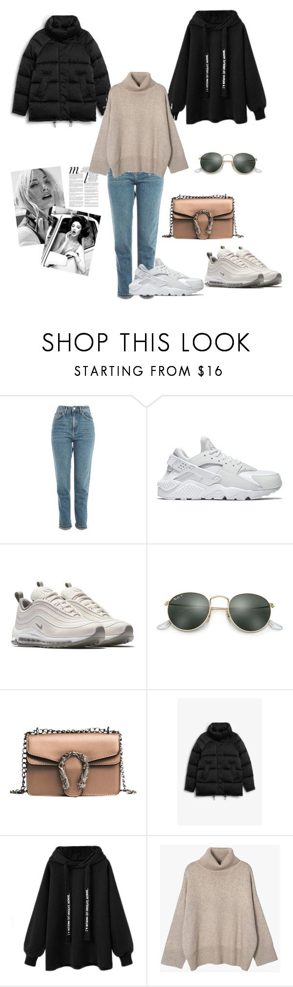"""Budget"" by victoria-191 on Polyvore featuring Topshop, NIKE, Whiteley, Ray-Ban and Monki"