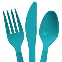 Bulk Teal Plastic Utensils, 48-ct. Packs at DollarTree.com