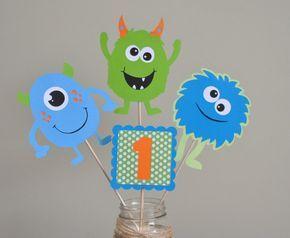 Monster Bash Centerpiece Monster Party by DesignsByDodi on Etsy
