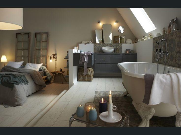 Diaporama : Osez la salle de bains sous les toits                                                                                                                                                                                 Plus