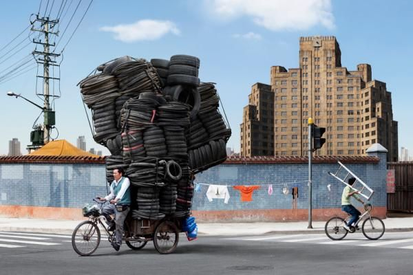 Alain Delorme // Bike MessengerInspiration Wall, Alaindelorm, Travel Lights, Art Photography, Photos Collage, Alain Delorme, Bikes Art, China, Recycle Art