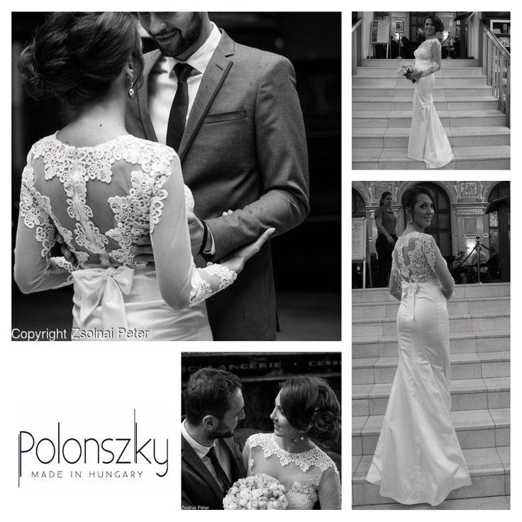 Romantic fall wedding in Polonszky wedding dress