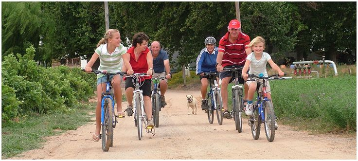 Bicycle Riding with friends and family through the country side
