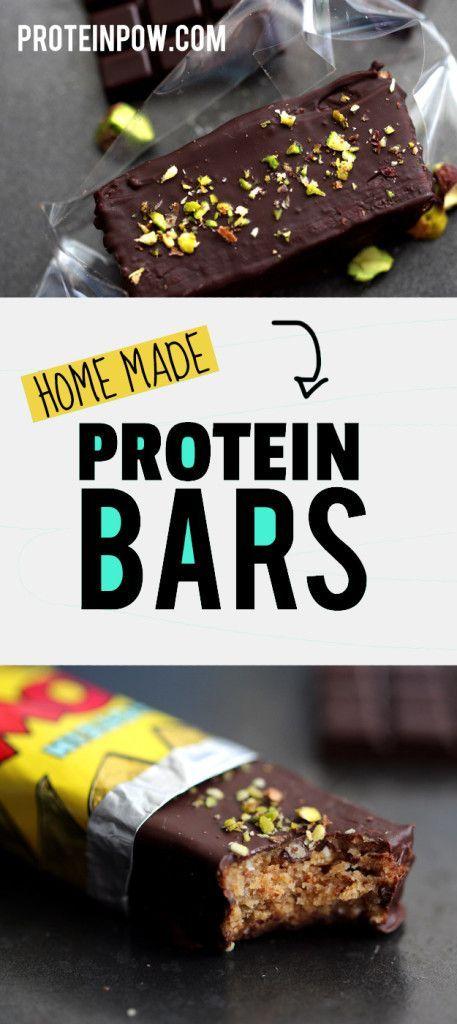 Almond & Dark Chocolate Protein Bars (Sugar-Free, Gluten-Free) - Protein Pow