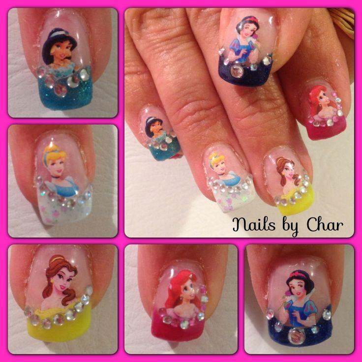 Disney Princess Nails: Disney Princess Nails By Char :)