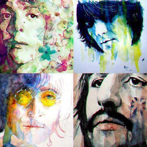 This art is gorgeous, some of the best I've seen, of The Beatles. Wish I could give the artist credit! :(