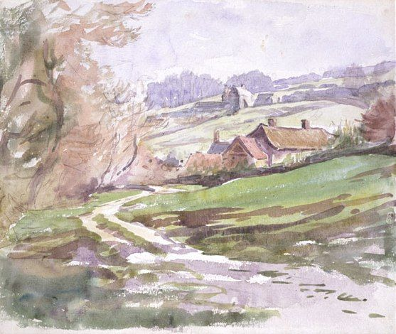 A Path near Sidmouth, watercolour by Beatrix Potter