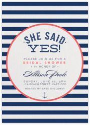 Nautical Stripe Bridal Shower - Paperless Post