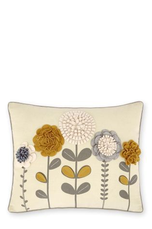 Buy Abstract Floral Appliqué Cushion from the Next UK online shop