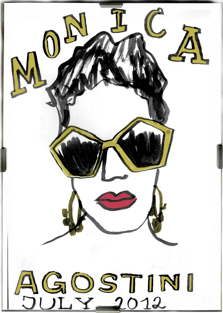 July 2012 at Mondadori palace  Monica Agostini )Flair's Beauty Editor) with new funny sunglasses!!!!    www.danielecosta.net