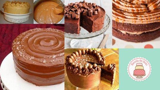 Uma das inúmeras variações de ganache é a de caramelo. Perfeita para bolos e cupcakes de chocolate, especialmente os preparados com cacau 100%. INGREDIENTES 250 gr. de chocolate ao leite ou meio amargo - em pastilhas ou picado 100 gr.