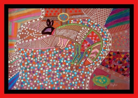 Indigenous artwork of kangaroo, Australia