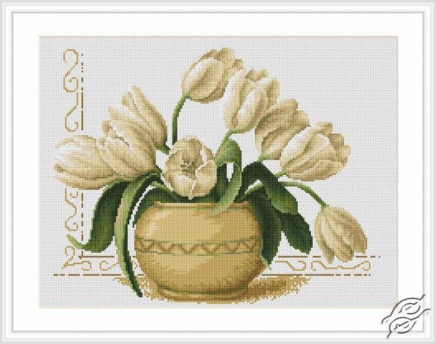 Vase of Tulips - Cross Stitch Kits by Luca-S - B2217
