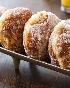 VANILLA CREAM-FILLED DOUGHNUTS: Desserts, Cream Fillings, Breakfast, Donuts, Martha Stewart, Cream Fil Doughnut, Vanilla Cream Fil, Doughnut Recipes, Creamfil