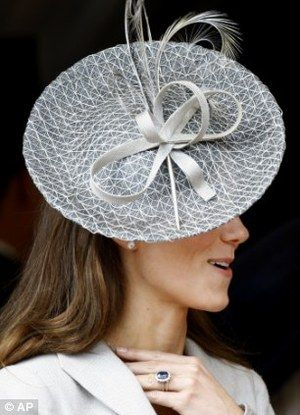 Rachel Trevor-Morgan Gray Feathered Bow Hat