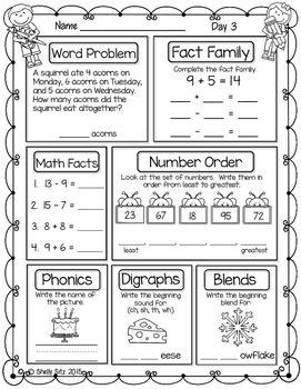 Morning Work For First Grade Third Quarter First Grade Lessons 1st Grade Math Worksheets First Grade Spelling