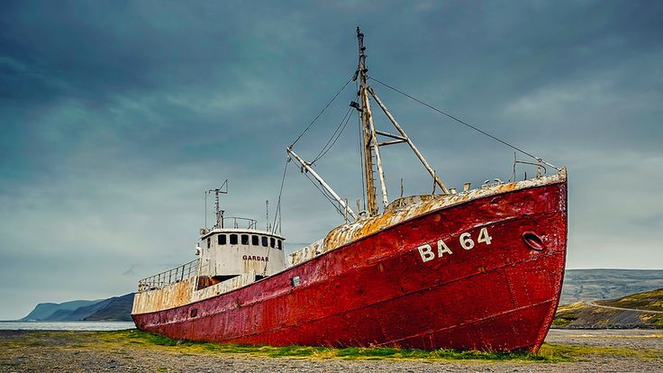The oldest steel ship in Iceland known as Garðar BA 64 was launched the same year that the Titanic met its final fate!   #DoYouKnow #Ship #GarðarBA64 #expedition #wanderlust #travel #tour #vacation #adventure #Iceland #summer