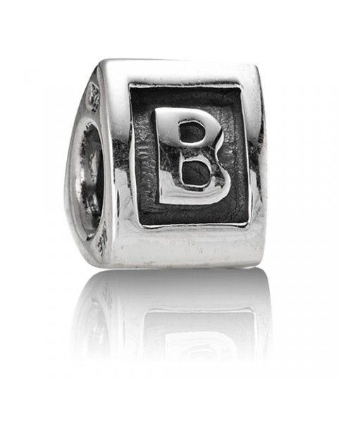 Charm Pandora letra B. Iniciales en plata. 29€ IVA inc. No te olvides de visitar nuestras novedades Pandora en nuestra tienda online