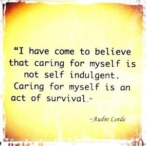 self care is now a priority  PLEASE!  DO NOT LET ANYONE MAKE YOU FEEL GUILTY WHEN YOU CANNOT PHYSICALLY DO SOMETHING, GO OR ATTEND SPECIAL FUNCTIONS AND ACTIVITIES FOR FAMILY AND FRIENDS.  WE HAVE FAR TOO MUCH GOING ON TO ADD GUILT.  TAKE CARE OF YOURSELF!    ((((hugs)))