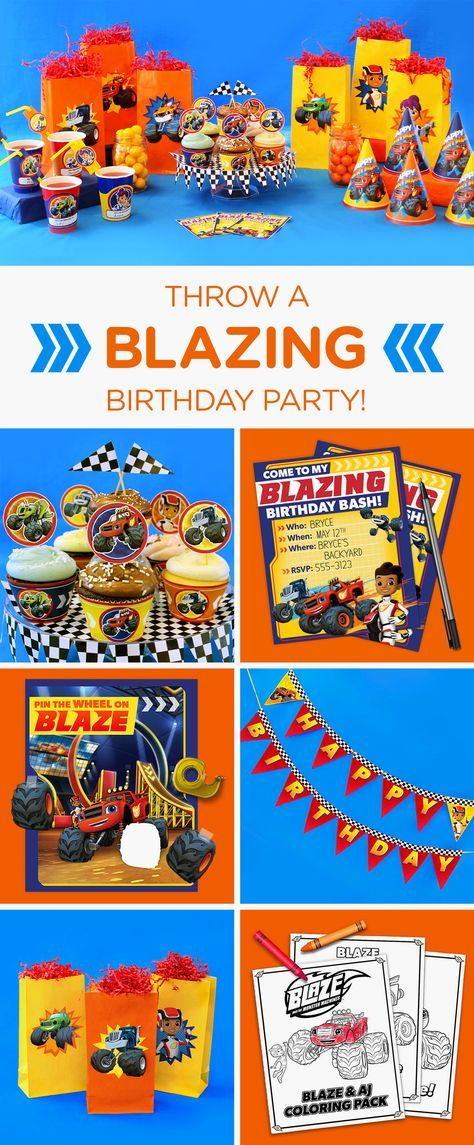 Planning a Blaze and the Monster Machines birthday party for your preschooler? This simple, step-by-step guide will transform your home into the ultimate party Monster Dome. Make your kid's birthday dreams come true with a monster truck birthday party complete with printable party supplies, Blaze goody bags, party games, invitations, decorations, and more.