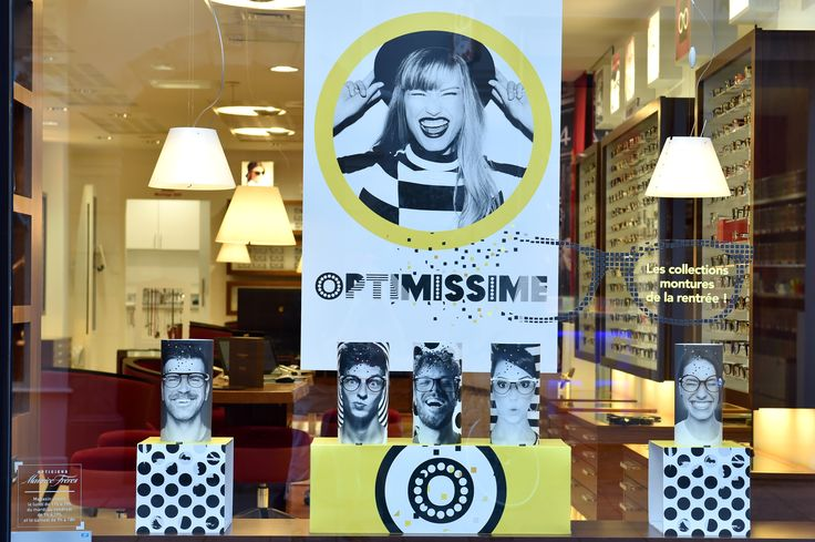 Vitrine Opticiens Maurice Frères - septembre 2016 : Optimissime ! #opticiens…